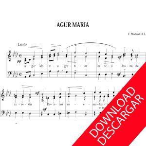 Cuatro canciones religiosas para voces graves - Aita Madina - Partitura