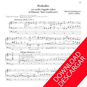 Preludio en estilo fugado - Martín Rodríguez Partitura Órgano