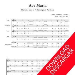 Ave Maria Pedro Aranaz Partitura