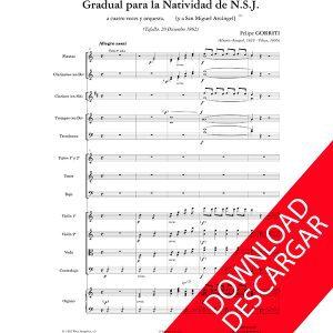 Gradual Natividad Felipe Gorriti Partitura