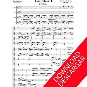 Cuarteto n 1 cuatro guitarras - Aita Madina - Partitura