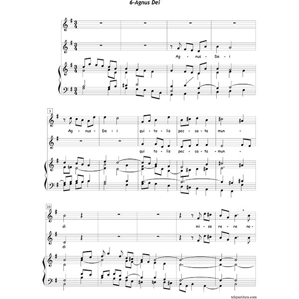 26 Best Images About Boomwhackers Sheet Music Partituras: Missa Brevis In Honorem San Guliemi, Aquitaniae Ducis