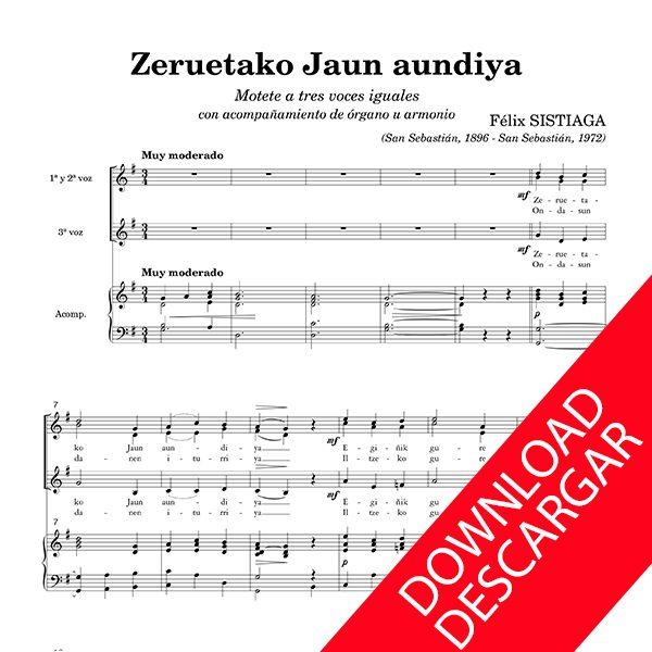 Zeruetako Jaun andiya - Felix Sistiaga